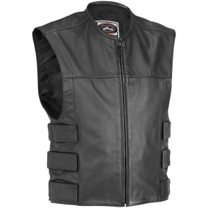 River Road Harrier Leather Tactical Vest