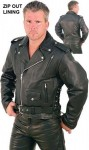 Leather Motorcycle Jacket with Vents M265VZ