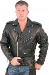 Long Back Buffalo Leather Motorcycle Jacket M36LZ