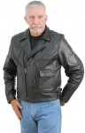 Premium Vented Leather Motorcycle Jacket M9029VZK