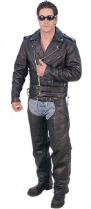 Tall Leather Motorcycle Jacket M727ZT