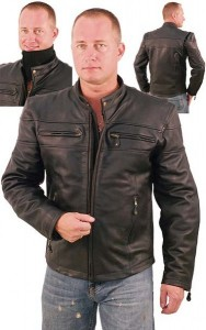 Premium Vented Cafe Racer Leather Motorcycle Jacket M505VZK