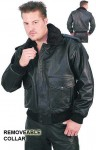 Traditional Leather Jacket - Bomber M304H