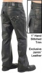 Hand Stitched Rivet Star Pocket Mens Pants MP11016XK
