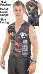 Deluxe Multi-Patch Leather Vest VM42PP