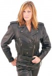 Leather Motorcycle Jacket for Women LA52LZ-02=S