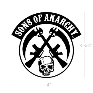 Sons of Anarchy Crossed Guns and Skull Patch SOA-28-179