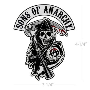 Sons of Anarchy Reaper Logo Patch SOA-28-180