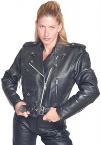 Ladies Leather Motorcycle Jacket - SPECIAL L200SP-02