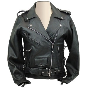 Leather Motorcycle Jacket LJ603