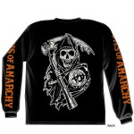 Sons of Anarchy Charging Grim Reaper Long Sleeve T-Shirt SOA-28-110