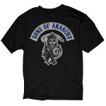 Sons of Anarchy Logo Patch T-Shirt SOA-28-10