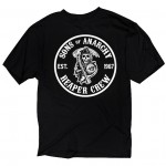 Sons of Anarchy Mens Cities T-Shirt SOA-28-344-BK