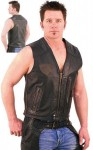 Two-Tone Jamin' Leather Vest With Stripes VM9075ZTT