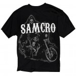 Sons of Anarchy Mens Reaper On Bike T-Shirt SOA-28-184
