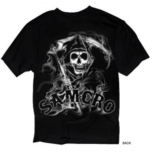 Sons of Anarchy Mens SAMCRO Reaper Smoke SOA-28-336