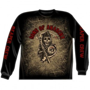 Sons of Anarchy Reaper Crew Long Sleev SOA-28-37