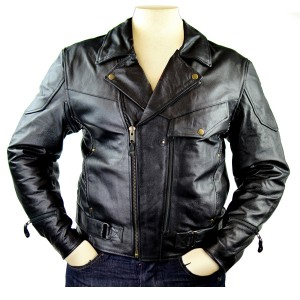 Men's Detour Vented Leather Motorcycle Jacket with CE Armor 8005