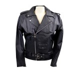 Men's Vented Leather Motorcycle Jacket MJ403