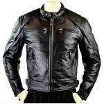 Men's Detour Leather Motorcycle Jacket with CE Armor 8011