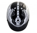 DOT Outlaw Gloss Black Screamer Half Face Motorcycle Helmet