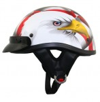 DOT Outlaw T69 American Eagle Flag Half Helmet