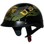 DOT Outlaw XU131 Officially Licensed Marine Corps Semper Fi Half Helmet