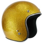 Outlaw Retro-5000 Gold Mega Flake Open Face Helmet