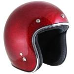 Outlaw Retro-5033 Burgundy Mega Flake Open Face Helmet