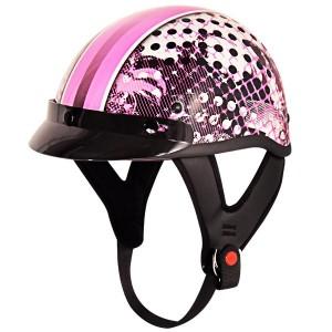 Outlaw T-70 Cool Girl Glossy Motorcycle Half Helmet