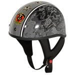 Outlaw T-70 Stars Glossy Motorcycle Half Helmet