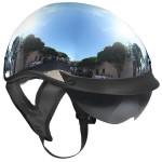 Outlaw T-72 Chrome Dual-Visor Motorcycle Half Helmet