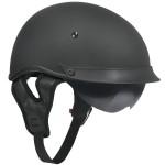Outlaw T-72 Matte Black Dual-Visor Motorcycle Half Helmet