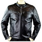 Men's Detour Vented Leather Motorcycle Jacket with CE Armor 8010