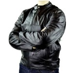 Men's Detour Vented Leather Motorcycle Jacket with CE Armor 8012
