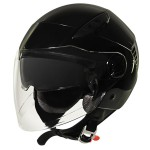Xelement ST-559 Black Open Face Helmet ST-559-12GB