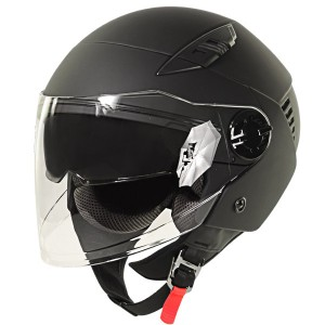 Xelement ST-559 Flat Black Open Face Helmet ST-559-11FB