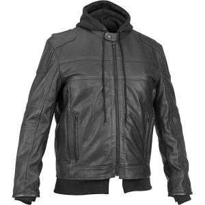Cavalier Hooded Leather Jacket