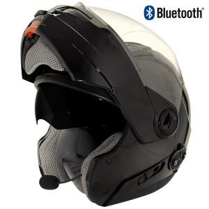 Hawk ST-1198 Bluetooth Transition 2 in 1 Black Modular Helmet