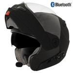 Hawk ST-1198 Bluetooth Transition 2 in 1 Flat Black Modular Helmet