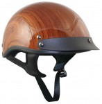 DOT Outlaw X176 Brown Wood Grain Half Helmet