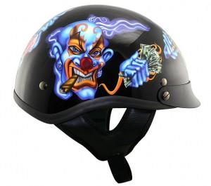 DOT Outlaw xu228 Insane Clowns Half Helmet
