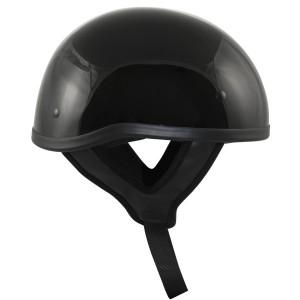 DOT T68 Flat Black Motorcycle Skull Cap Half Helmet