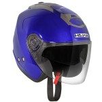 Hawk AP-700 Cruz-R Blue/Anthracite Dual Visor Open Face Helmet