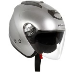 Hawk AP-700-Cruz-R Silver/Anthracite Dual Visor Open Face Helmet