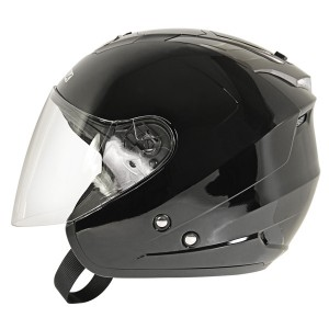 Hawk AP-700 Cruz-R Black/Anthracite Dual Visor Open Face Helmet