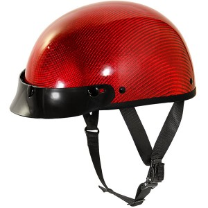 Outlaw Slim-G310 Red Carbon Glossy Half Helmet