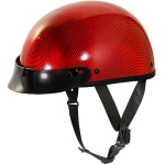 Outlaw Slim-G310 Red Carbon Glossy Half Helmet
