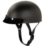 Outlaw Slim-G425 Black Matte Half Helmet