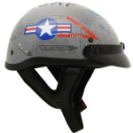 Outlaw T-70 Glossy Motorcycle Half Helmet with US-Air-Force Graphics Officially Licensed Product